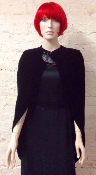 1960s Rafaella Curiel Couture Terciopelo De Seda Capa S-m-ver Volumen Grande