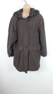 WOMENS-ST-MICHAEL-MARKS-amp-SPENCER-BUTTON-ZIP-UP-PUFFER-COAT-HOODED-UK-14