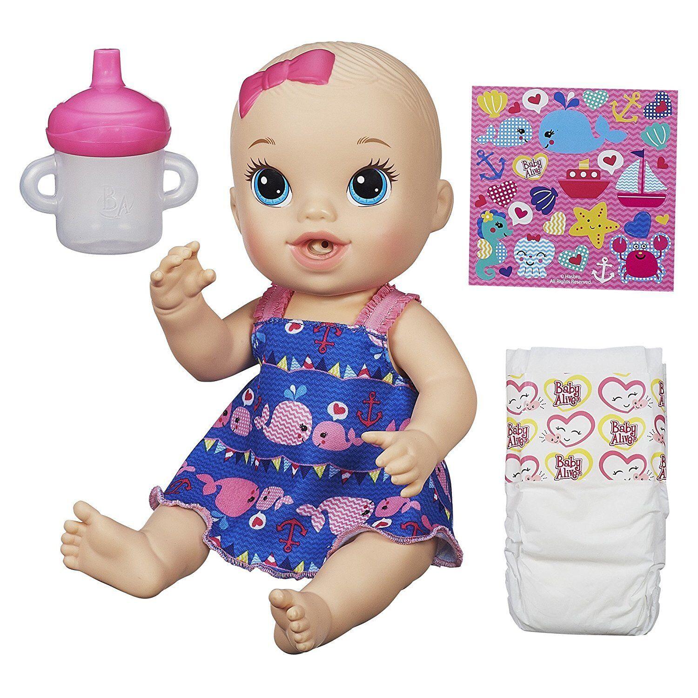 bebis Live Sips n Cuddles Blond Doll Whale Dress Ages 3 New leksak flickor House