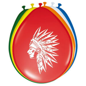 8-Indianer-Motiv-Ballons-Indianer-Party-Kindergeburtstag