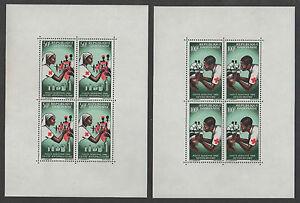 RED CROSS - GABON / 1966 - SET OF 2 BLOCKS - MNH (7382)