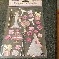 Roger La Borde 3d Dimensional Stickers Wedding Cake Flowers Cardboard