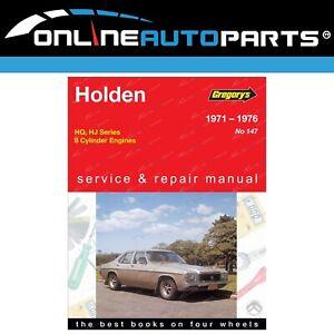 Gregory-039-s-Workshop-Repair-Manual-Holden-HQ-HJ-1971-to-1976-8Cylinder-253-308-350