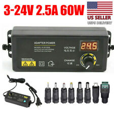 Power Supplies Adjustable Voltage With Lcd Display 3 24v Acdc Switch Adapter Us