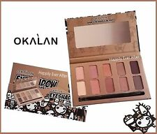 Nude Eyeshadow Palette - OKALAN 10 Pink-hued Neutral Shades Palette w/ Brush
