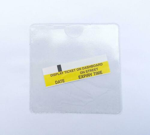 STYLARIZE® Universal Self Adhesive Square Clear Holder for Parking Permit