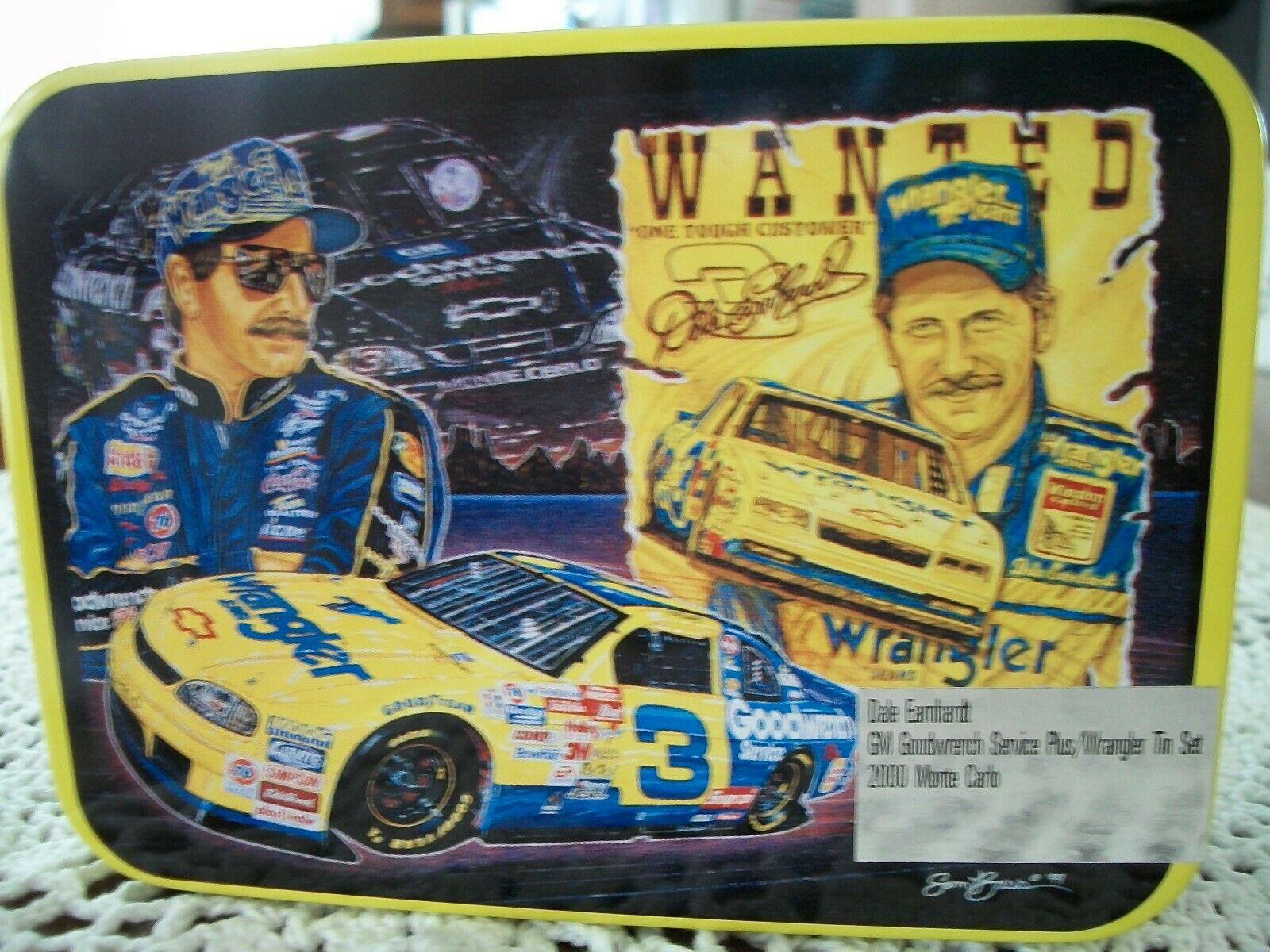 DALE EARNHARDT GM GOODWRENCH  WRANGLER  2000 TIN SET with 2 Die Cast Cars
