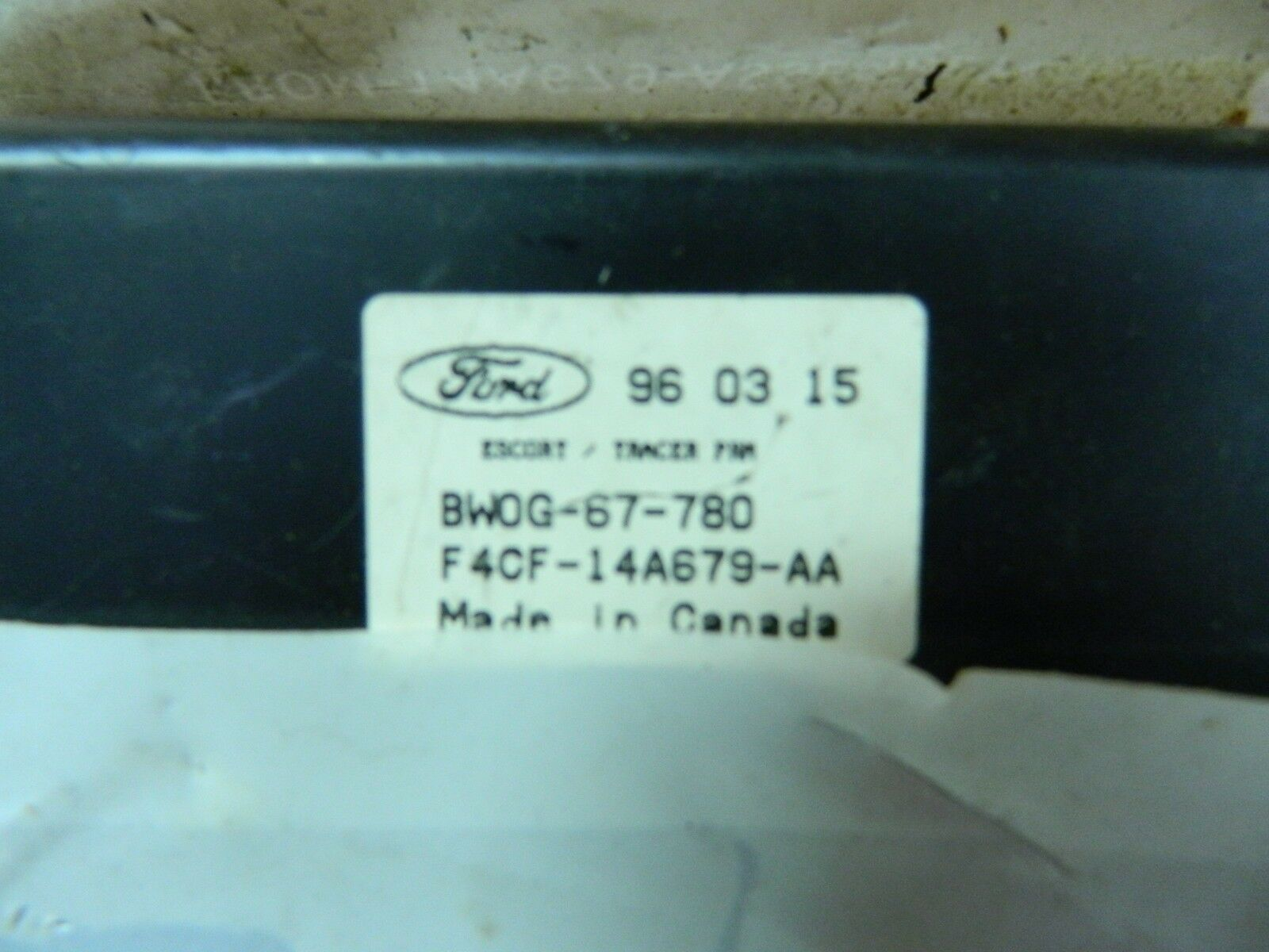 OEM Ford Body Control Module F4CF-14A679-AA Ford Escort Tracer 1991-1997