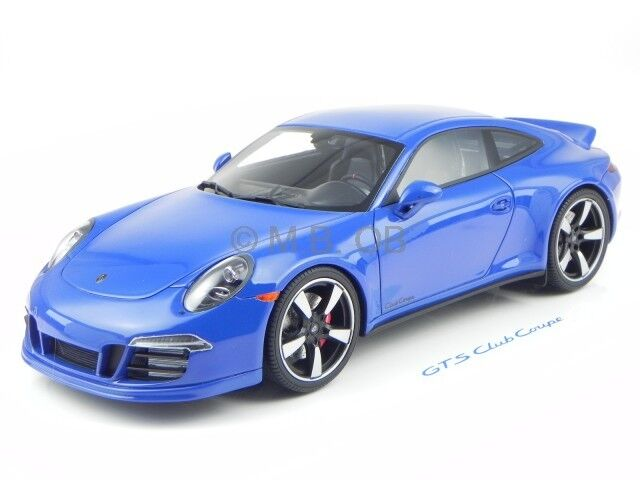 Porsche 911 991 GTS blu PorscheClub America modellino GT-Spirit 1:18