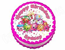Shopkins *ROUND* edible party cake topper decoration sheet