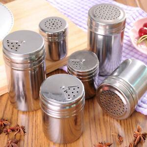 1x Stainless Steel Cruet Salt Pepper Seasoning Condiment Box Spice