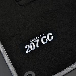 tapis sol peugeot 207cc serie 64 pack moquette logo blanc c sur mesure ebay. Black Bedroom Furniture Sets. Home Design Ideas