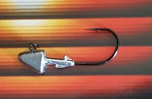 Details about 100 Unpainted Shad Jig Head Striper Bass Swimbait Lure Mustad  Ultra Point Hook