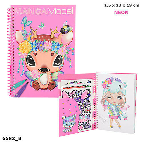 Top Model MANGA Model Colouring Book by Depesche