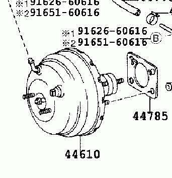 44610-6A050 VACUUM POWER BRAKE BOOSTER FOR TOYOTA LAND CRUISER KZJ95 1996-2002