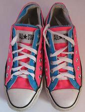 VTG Unisex Chuck Taylor CONVERSE Hot Pink/Blue Canvas Lo Trainer/Shoe Size 4.5
