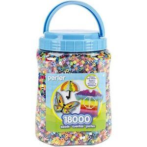 Perler-Fun-Fusion-Bead-in-plastica-VASO-18-000kg-effetto-multicolore-Fused-Perline-Pkg