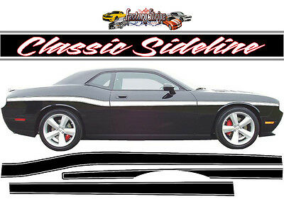 2011 TO2015 DODGE CHALLENGER CLASSIC SIDELINE FACTORY STRIPE DECAL GRAPHIC