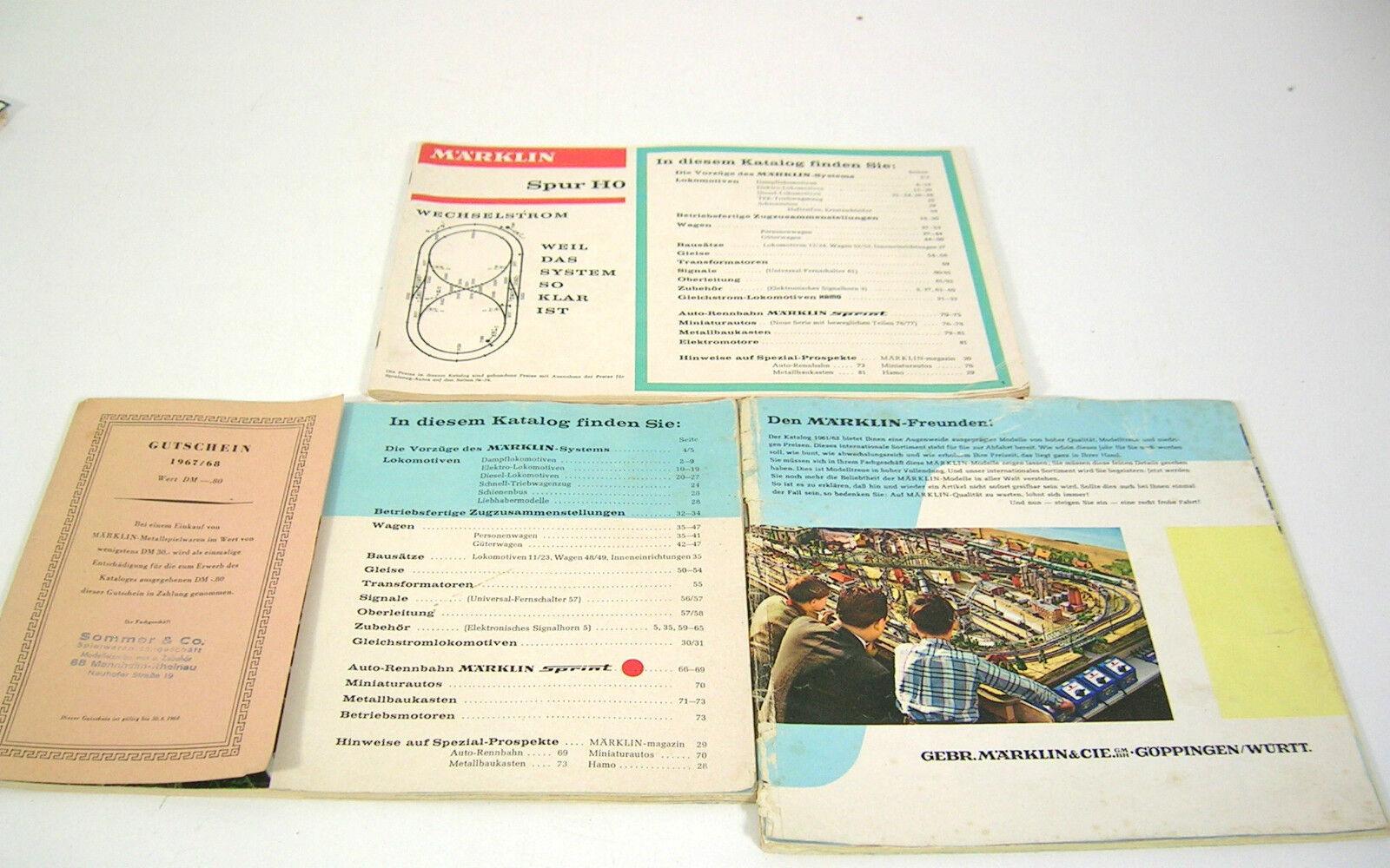 h0 00 3 cataloghi 1961/62 1967/68 1968/69 800