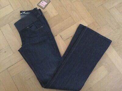 Apprensivo Nuovo Con Etichette Juicy Couture Nuovo Donna Small Blu Cotone Denim Jeans Premaman Uk8/10-mostra Il Titolo Originale