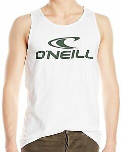 2f0b6bc110587 Details about O NEILL Men s White One Basic Graphic Printed Tank Top T-Shirt