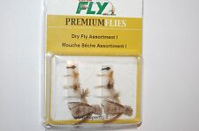 superfly premium flies dry fly flyfishing assortment kit 10 trout grayling etc..