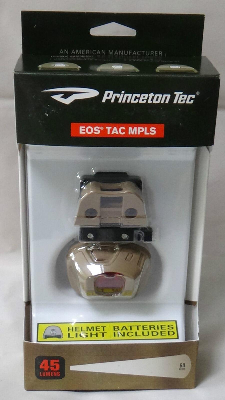 Princeton Tec EOS Tactical MPLS Tan  Head Lamp - New & Sealed  online shop