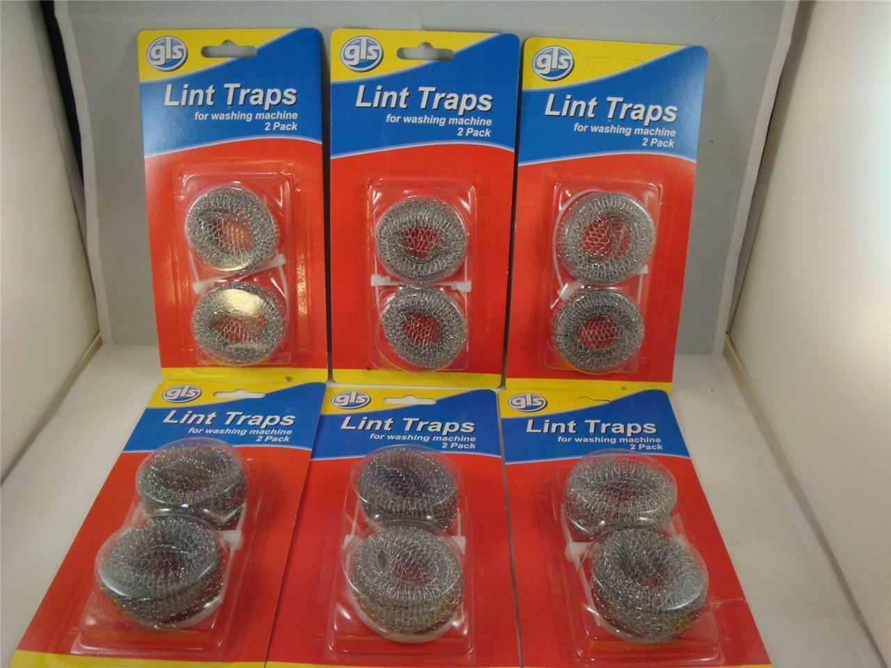 12 Lot Washing Machine Lint Traps Snare Filter Screens Aluminum Mesh W/ Clamps
