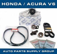 Honda/acura V6 Timing Belt & Water Pump Kit Factory Parts Genuine/aisin/koyo