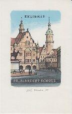 Ex-libris Albrecht SCHOLZ par Jiri BOUDA (1934-2015) Praque République tchèque