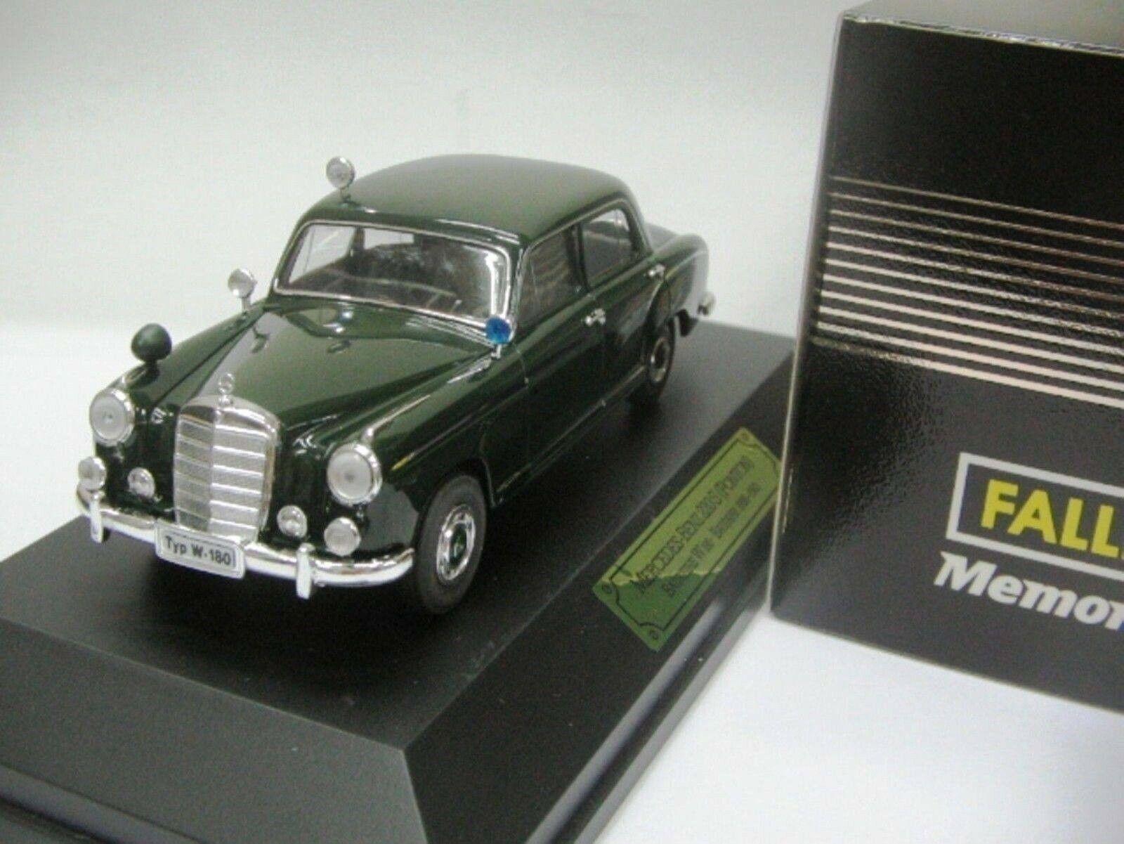 WOW EXTREMELY RARE Mercedes W180 220S Ponton 1958 Polizei 1 43 Faller-Minichamps
