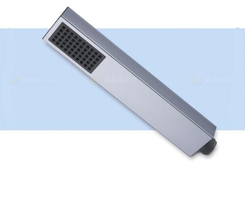 Single Function Rainfall Square ABS Hand Held Shower Head Chrome Hose Holder Set