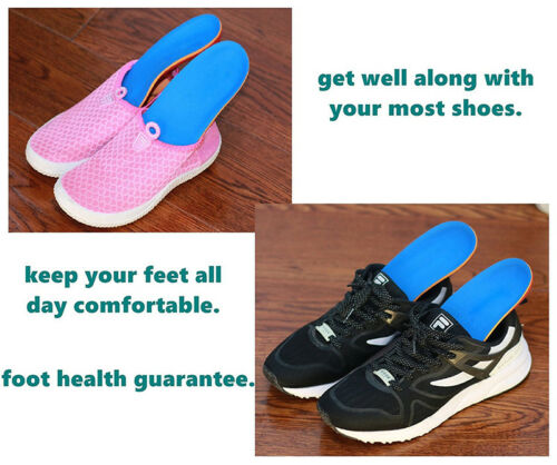Orthotic Shoe Insoles Arch Support Heel Plantar Fasciitis Sports Running Workout