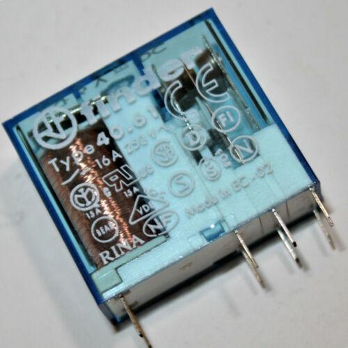2 x   FINDER Relais 40.61 16A 250V~ Spule 6V DC