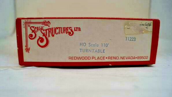 Ho Scale Structures Limited Kit  1223, 110' Turntable Kit