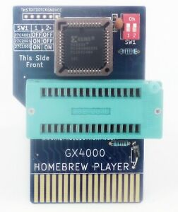 GX4000-Homebrew-Player-ZIF-eprom-to-cartridge-adapter