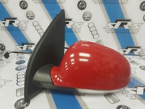 VW Golf MK5 Passenger Near Side Electric Wing Mirror in Tornado Red - LY3D