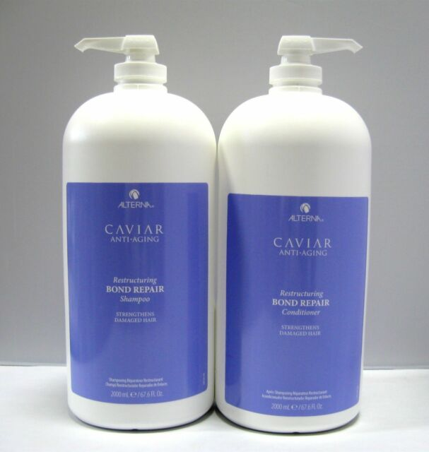 Alterna Caviar Bond Repair Shampoo & Conditioner 2 Liter Set 67.6 oz Half Gallon