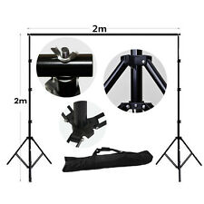 Fotografía 2m X 2m Studio de telón de fondo apoyo Kit De Soporte