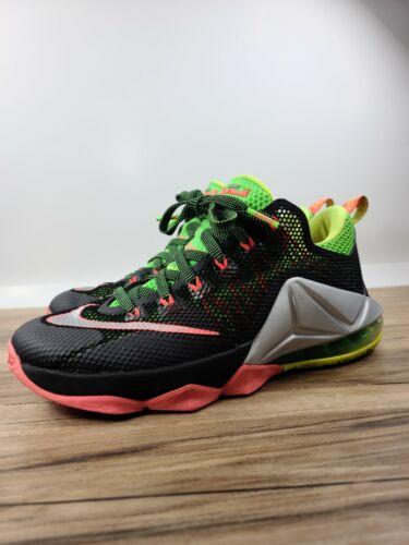 Nike LeBron 12 Remix Hot Lava Green Low Mens Baske