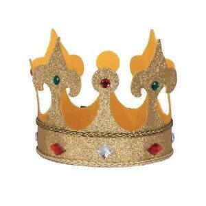 Kings Crown Large En Tissu, Accessoire, Royauté, Robe Fantaisie-afficher Le Titre D'origine