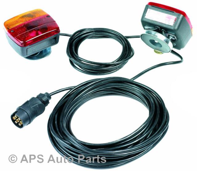Magnetic Trailer Light Set 10 Meters Cable Board Tail Lights Lamp Plug Socket