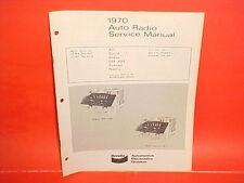 1970 FORD GALAXIE 500 XL CONVERTIBLE METEOR BENDIX AM-FM RADIO SERVICE MANUAL 70