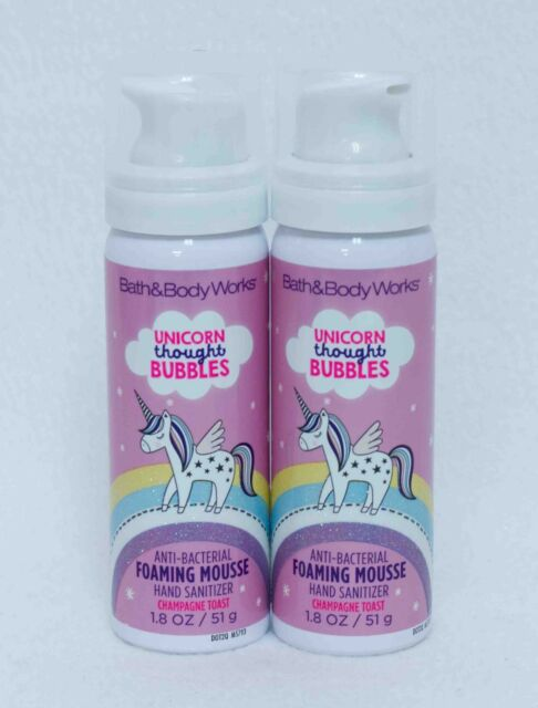 Bath & Body Works Unicorn Champagne Toast Anti-Bacterial Hand Sanitizer X2