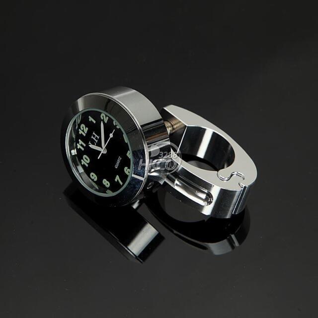 Chrome Motorycle 7/8''1''Handlebar Mount Clock For Yamaha V-Star Virago Harley