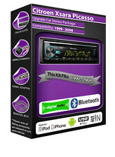 CITROEN Xsara Picasso DAB Radio, Reproductor Pioneer Stereo Cd Usb Aux, Bluetooth Kit