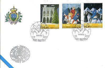 Sanft San Marine 2007 Fdc Aasfn Weihnachten Direktverkaufspreis Europa Briefmarken