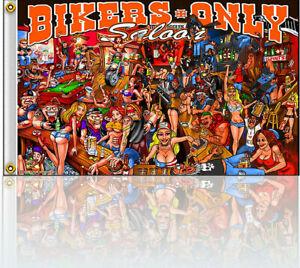 Bikerfahne-Flag-Maennerhoehle-Hissfahne-150-x-90-Saloon-Party-treff-Club-DW0607