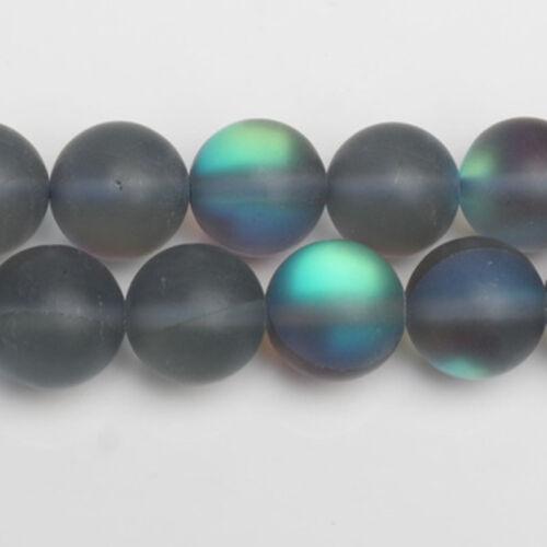 Cristal redondo Scrub Esmeralda a granel suelto bolas Joyería Makings 6mm//8mm//10mm//12mm