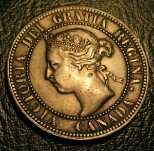 Details about Old Canadian Coins 1893 Large Cent Canada DIE CRACK ERRORS  Highgrade Beauty